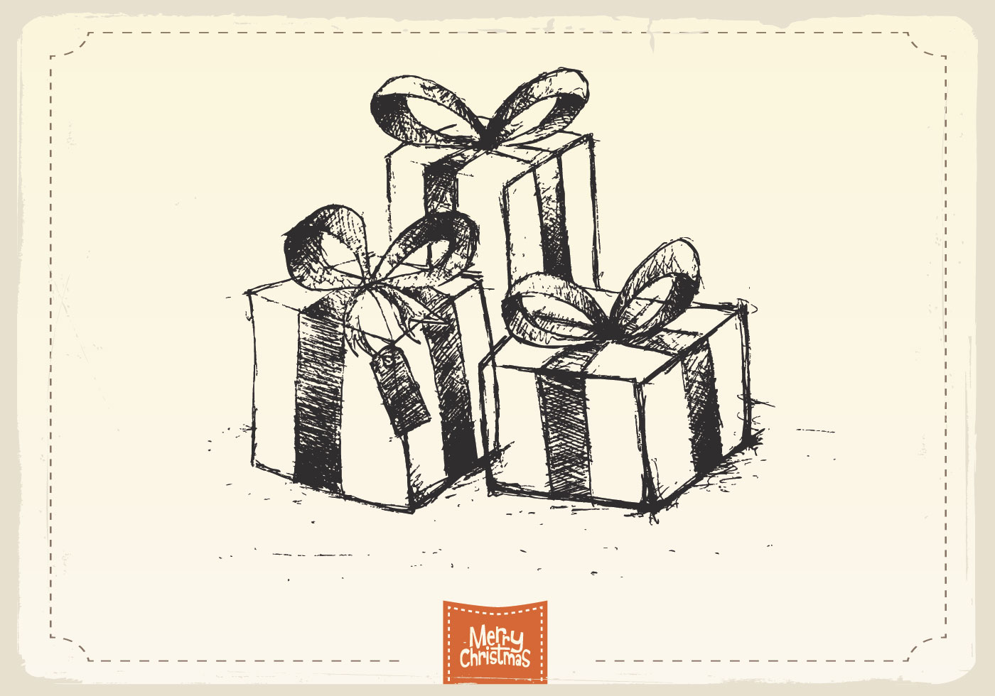 Christmas Gifts Sketch Vector - Download Free Vector Art Stock Graphics U0026 Images