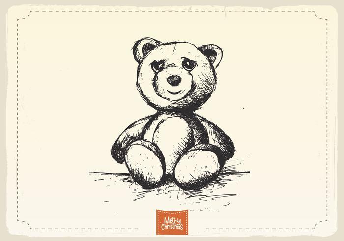 Teddybeer Schets Vector