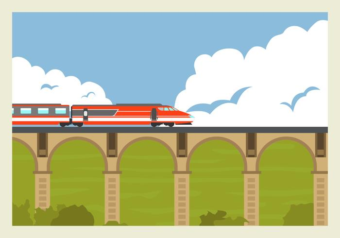 High Speed ​​Rail TGV Tåg Vector Illustration
