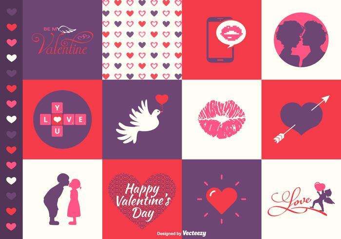 Vektor Valentinstag Designs