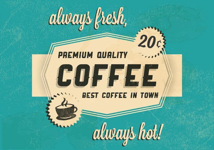 Logotipo del café caliente Logo