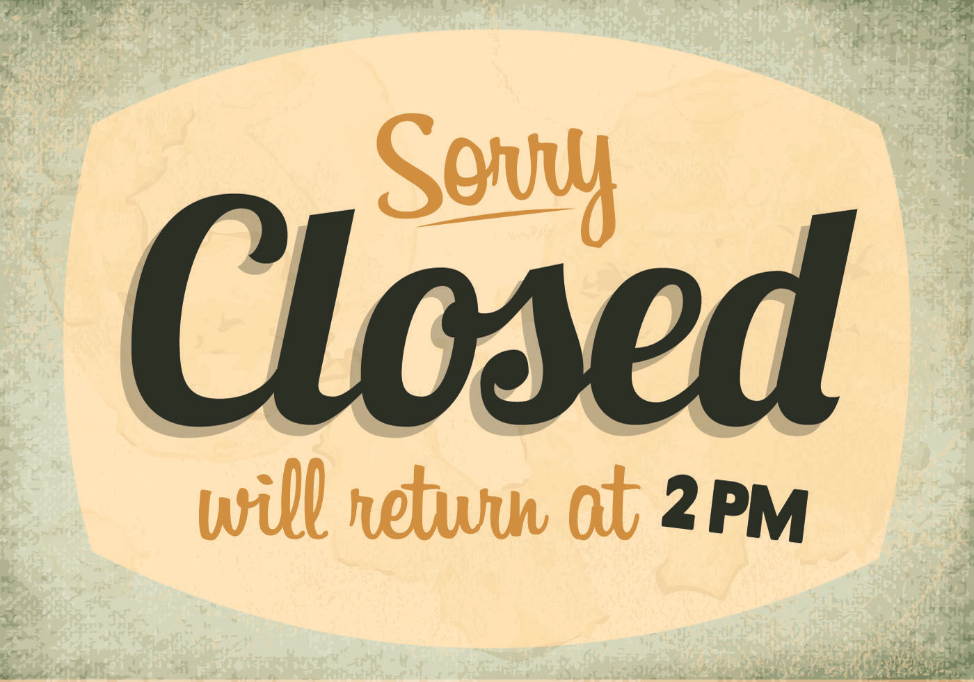 Sorry We Re Closed Sign Vector Download Free Vector Art