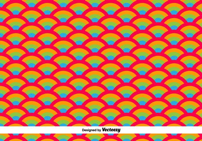 Orientaliska vågor vektor mönster