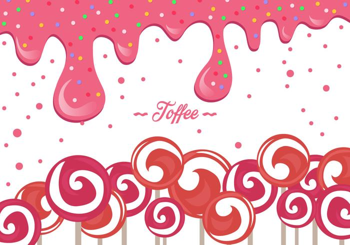 Roze Toffee Achtergrond vector