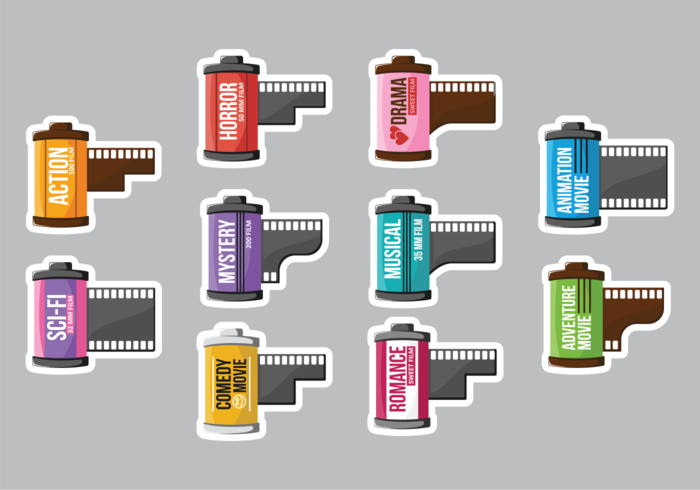 Film Canister Free Vector