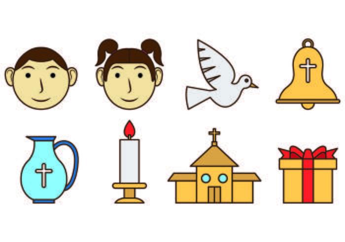 Set di icone Bautizo