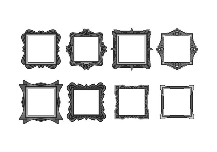 Cadre Square Free Vector