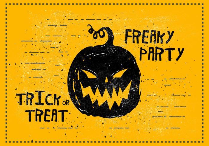 Freaky halloween illustration vectorielle