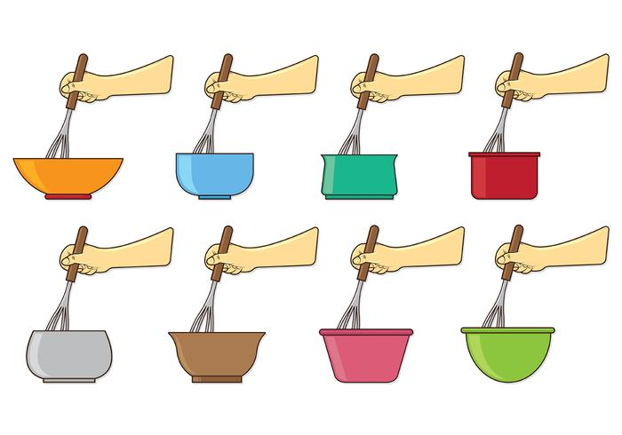 Set Of Mixing Bowl Vectors