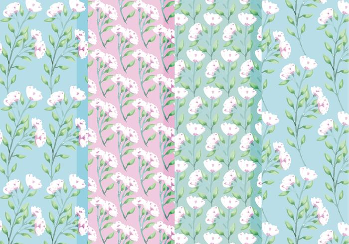 Vector Spring Roses Patterns