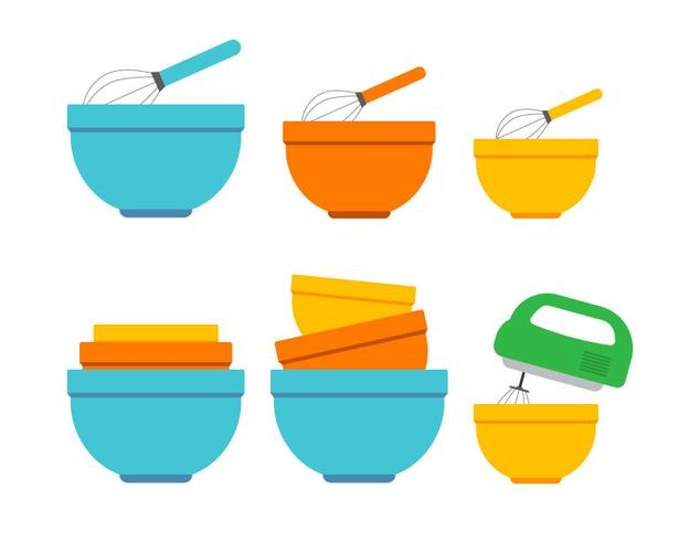 Mixing Bowl Vector Icons