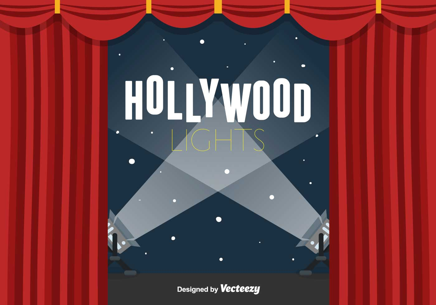 Hollywood Lights Vector Background - Download Free Vector ...
