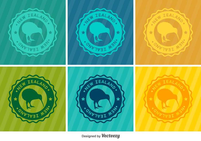 Kiwi Bird Vector Badges