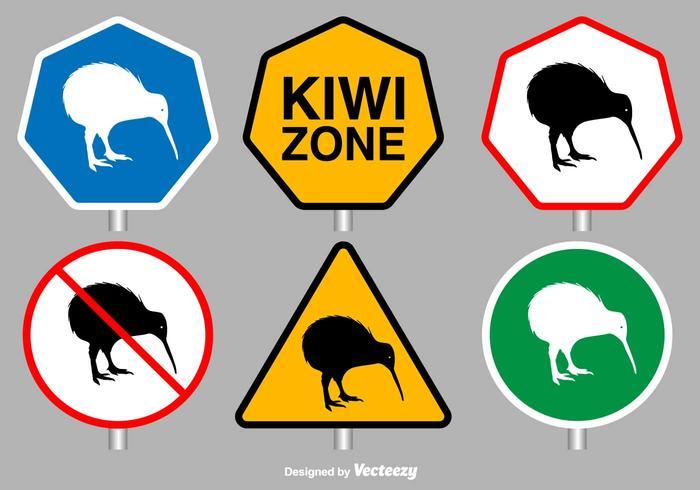 Kiwi Bird Vector Signs