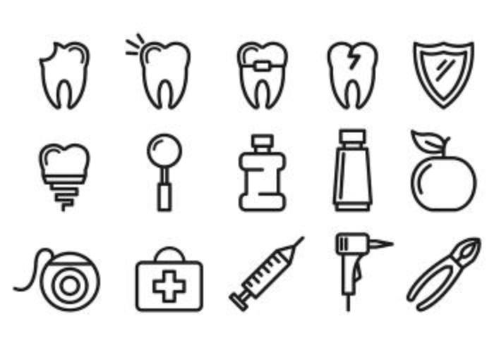Set Of Dentista Icons