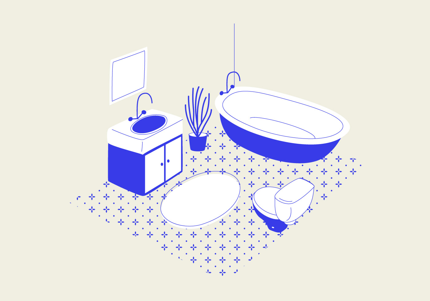 Bathroom Vector Illustration Download Free Vector Art