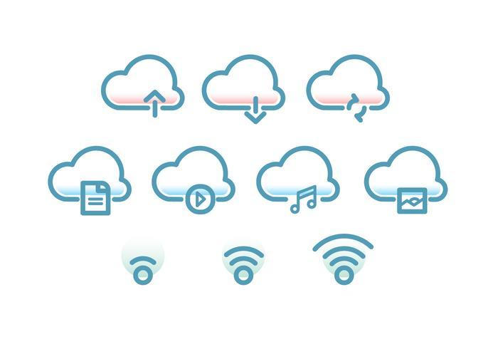 Tecnologia cloud icon