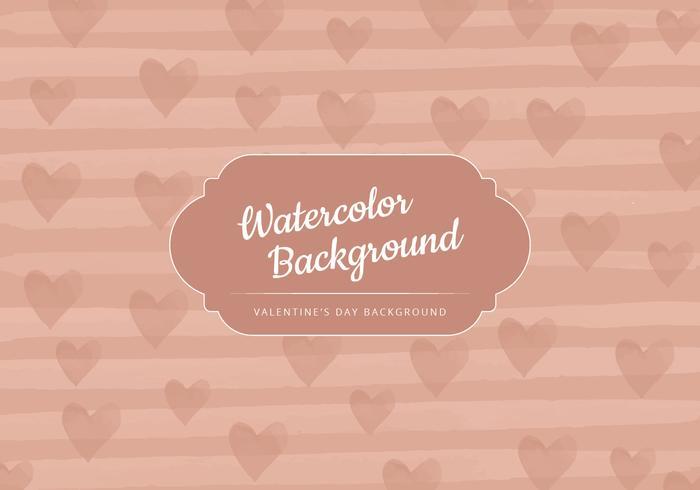 Vector Beige Valentine's Day Background