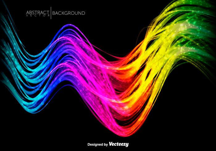 Abstract Colorful Shiny Waves - Vector Illustration