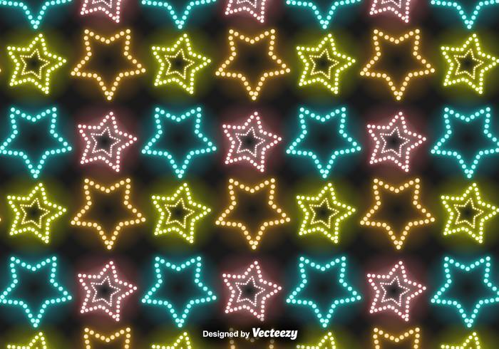 Vector Neon Sterrenpatroon