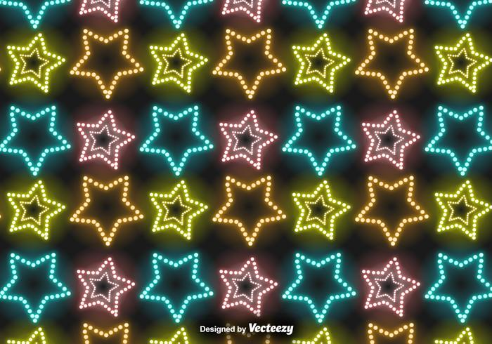 Vector Neon Stars Muster