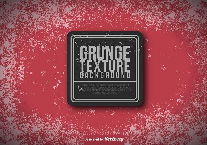 Red Grungy Background - Vector Mall