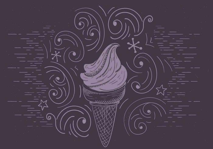 Illustration de glace à vecteur libre