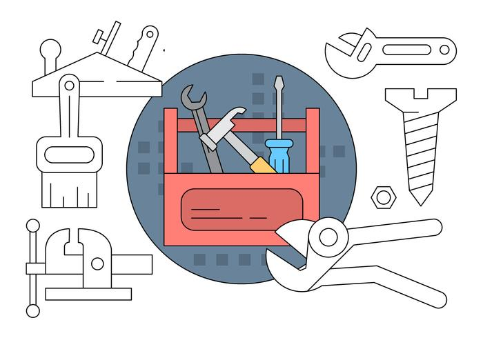 Free Collection With Tools vector