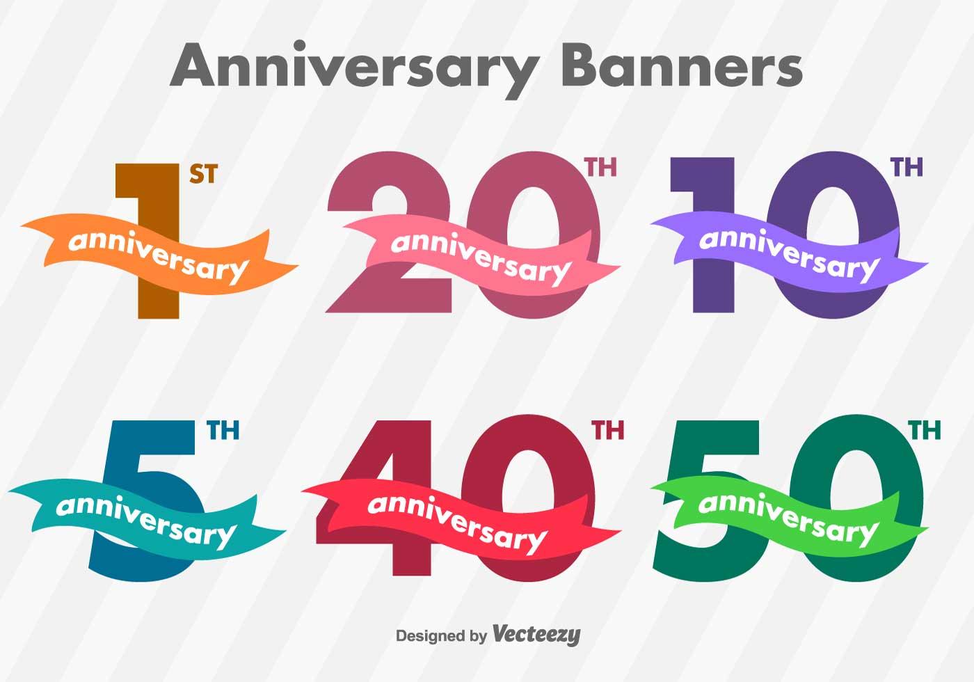 Anniversary banner free vector art downloads
