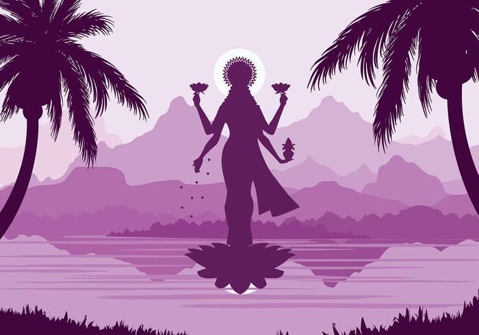 Lakshmi Free Vector
