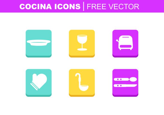 Cocina icone vettoriali gratis