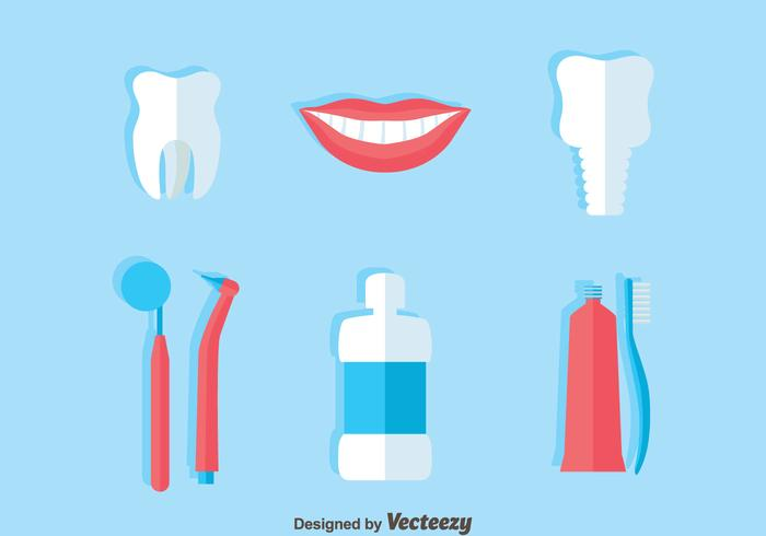 Dentist Flat Icons Vector