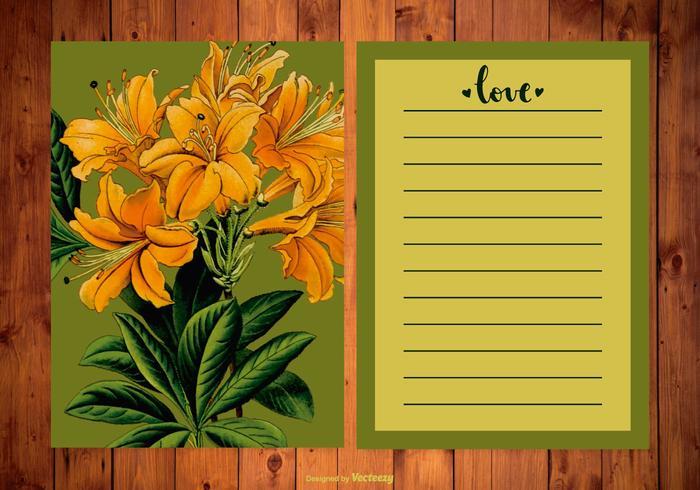 Floral Wedding Planner/Card Illustration