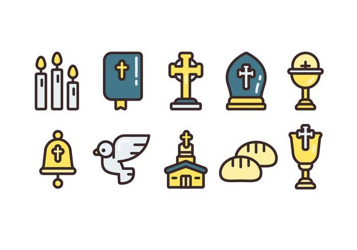 Comunion Vector simple jeux d'icônes