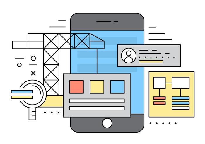 Mobile Application Vector Illustration