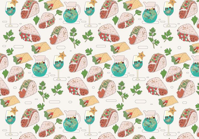 Taco Pattern Vector