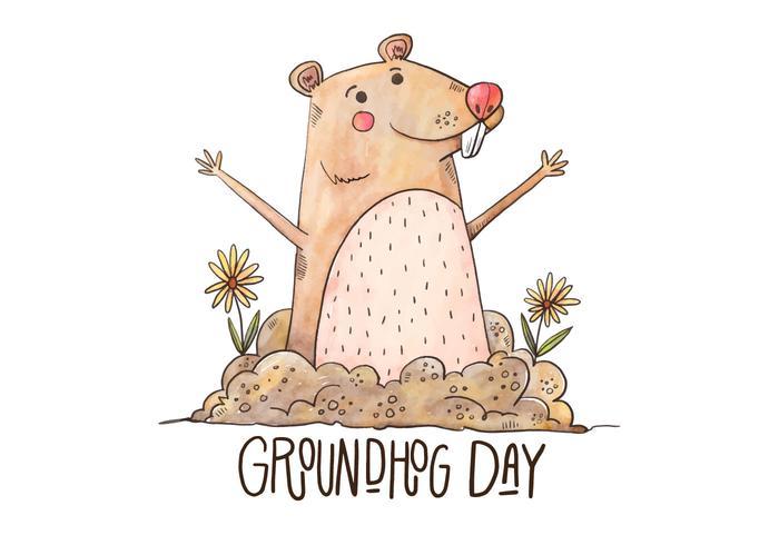 Jour de la marmotte Illustration vecteur
