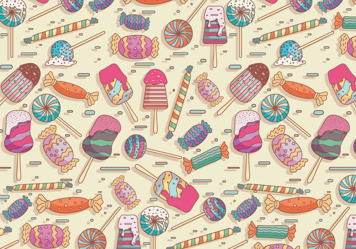 Toffee Vector Pattern