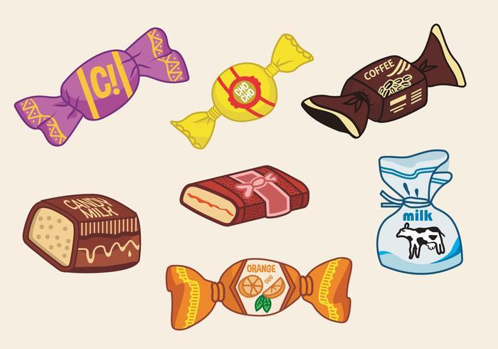 Toffee Süßigkeiten Vektor-Illustration
