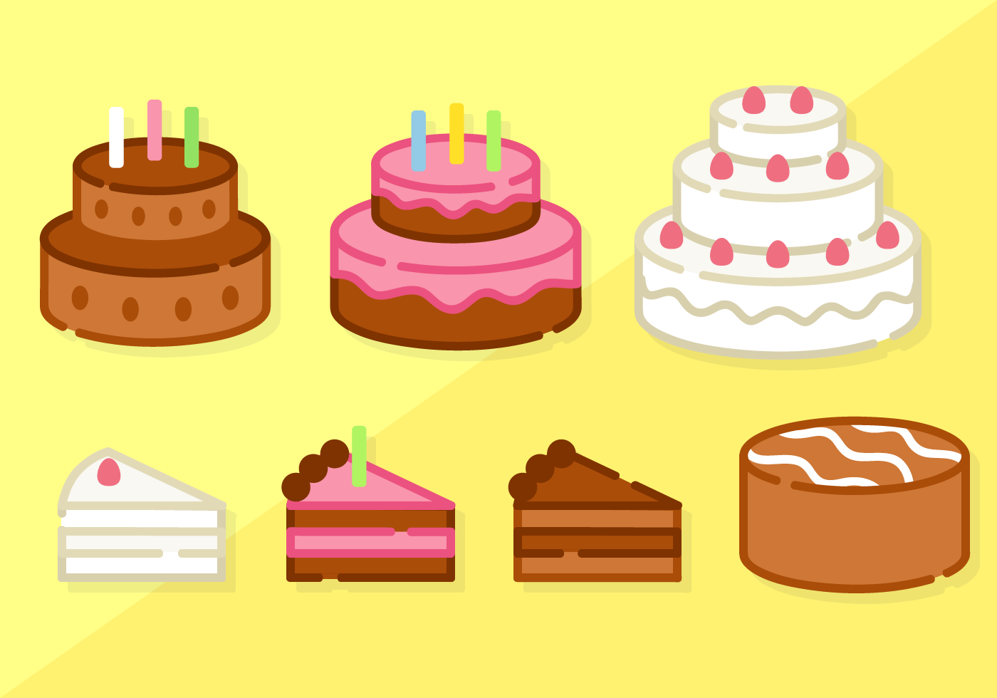 Cake Pictures Vector : Free Minimalist Cake Vector - Download Free Vector Art ...