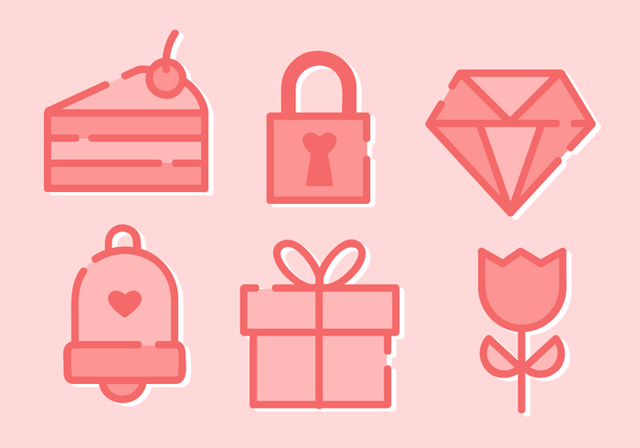 Free Minimalist Valentine's Day Elements