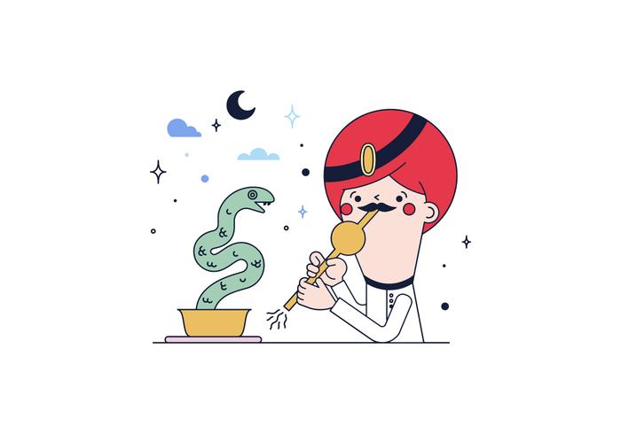 Free Snake Enchanter Vector