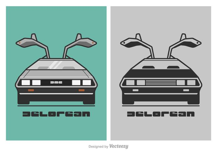 Free DeLorean Vector Illustration