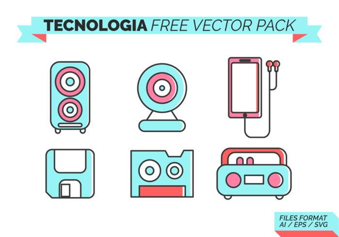 Tecnologia Paquete de vectores libres