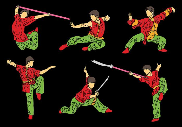 Free Wushu Icons Vector