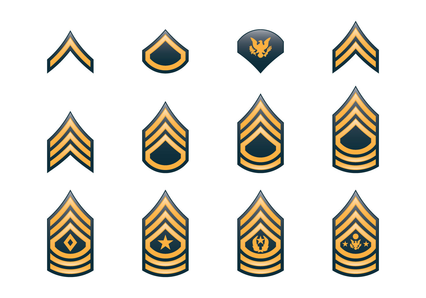 Army Rank Insignia - Download Free Vectors, Clipart ...