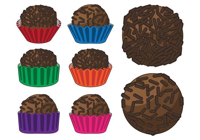 Brigadier Chocolate Truffle Vectors