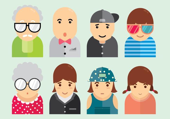 Set di icone di Personas