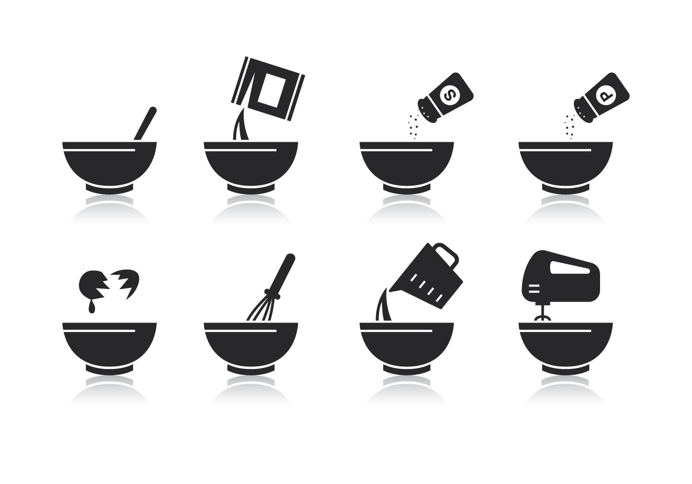 Free Mixing Bowl Vector Download Art Stock