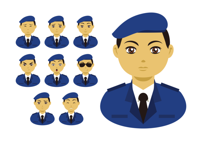 Brigadier Emotions Expression Vector